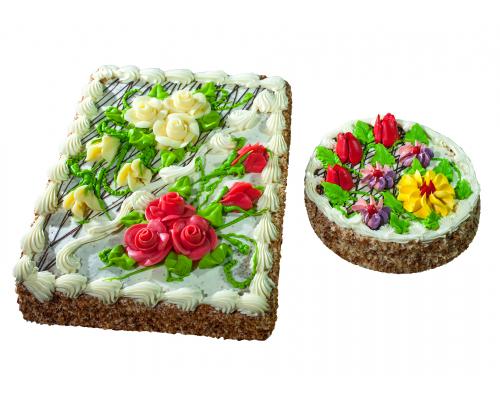 Торт бисквитно-кремовый 0,5 кг; 2,0 кг